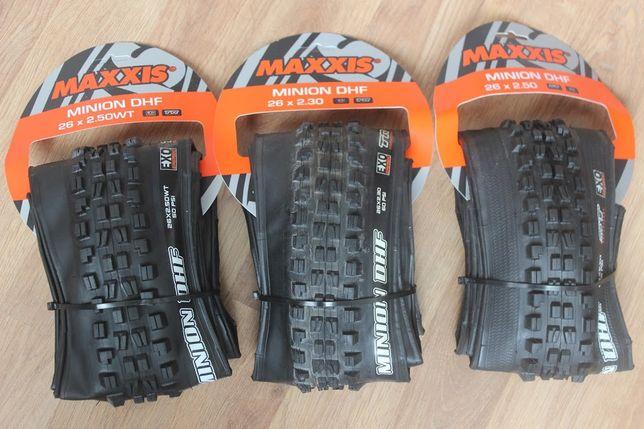"Покрышки Maxxis Minion DHF 26 / 24"". Minion Front на велосипед II"