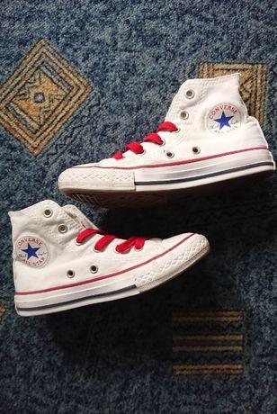 Кеды Converse (оригинал)All Star, Белые, высокие, р.31
