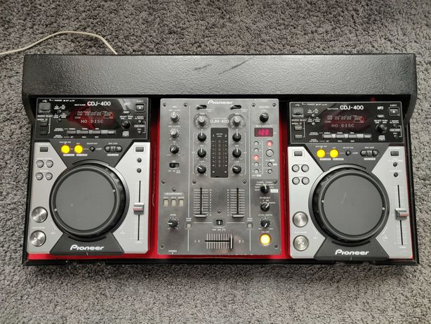 Pioneer DJM 400 + 2x CDJ 400 + CASE + PO SERWISIE