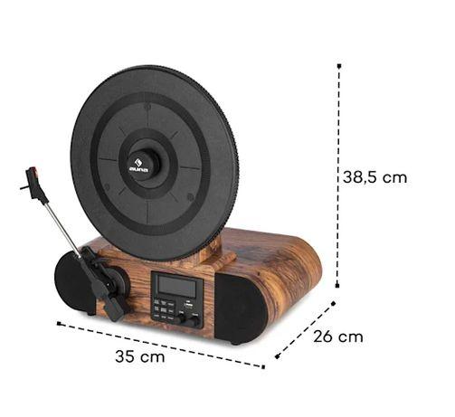Вертикальный Ретро проигрыватель винила с отличным звуком USB BT FM