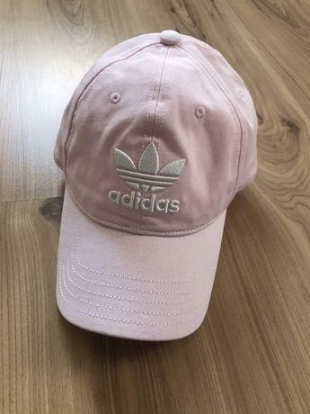 Różowa czapka z daszkiem adidas nowa