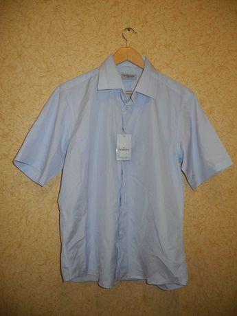 НОВАЯ мужская рубашка Vedonni с коротким рукавом L (50-52 р) шведка