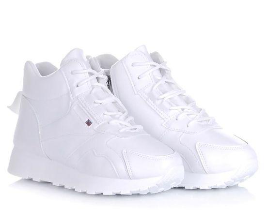 Белые женские ботинки кроссовки зимние обувь! 36-41 ХИТ! НАЛОЖКА!
