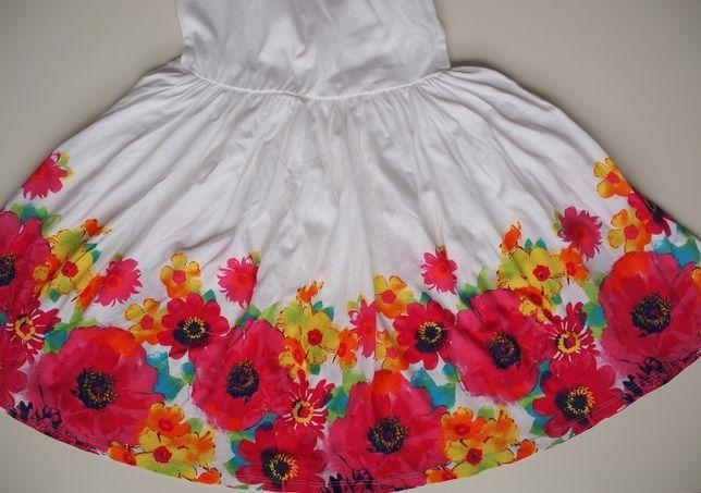 Nowa, piękna sukienka z miękkiej bawełny: The Children's Place 122/128