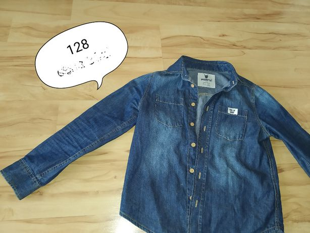 bluza jeansowa cienka 128