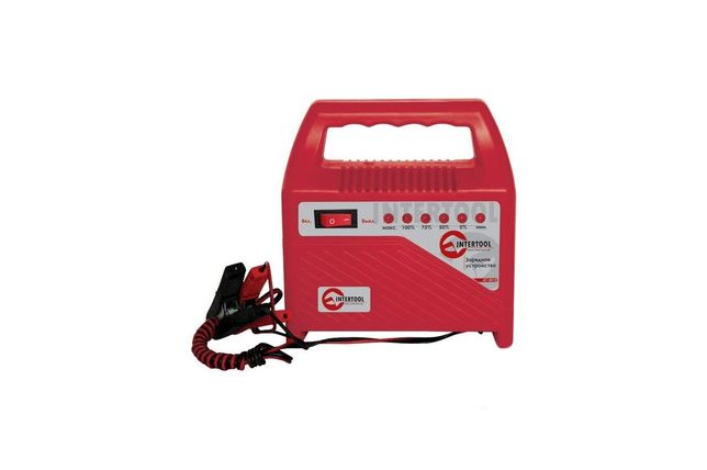 Зарядное устройство Intertool - 6 - 12 В, 6 А, со светодиодной индик
