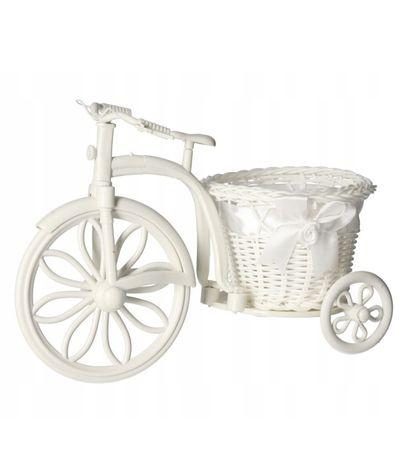 Ozdobna osłonka na doniczke rowerek