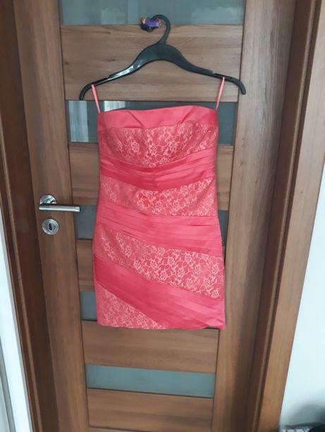 Sukienka r 42 , M/L  malinowa