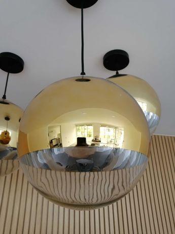 Candeeiro de teto vidro dourado 40 cm