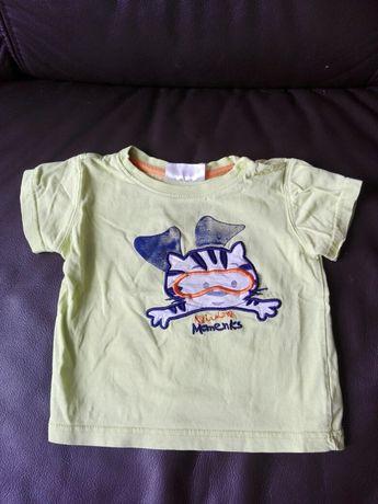 Koszulka chłopięca z krótkim rękawem roz. 74