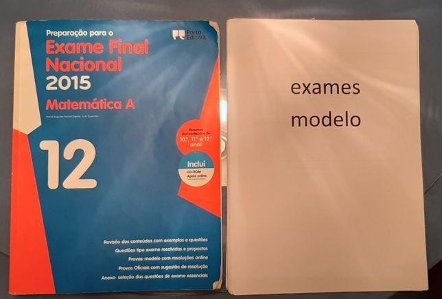 Matemática (12º ano) - livro de exames e notas de explicadora
