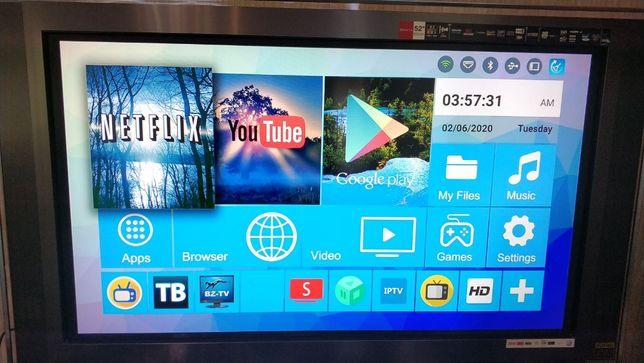 ПОЛНОСТЬЮ НАСТРОЕН ТВ Smart приставкаTV Box H96 Pro+ 2 GHz 3Gb /32 Gb