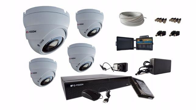 Zestaw Do Monitoringu 4 Kamery z 4w1 Monitoremkamer IP SIECIOWYCH 12MP