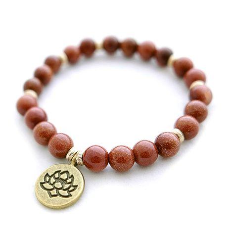Bransoletka indyjska z kamieni orient kwiat lotosu etno boho handmade