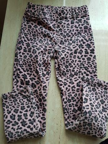 Spodnie ciepłe nowe na 140 H&M i sweterek ZARA