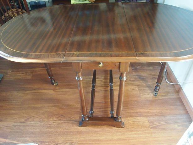 Mesa oval de jantar em madeira maciça RETRO VINTAGE extensível