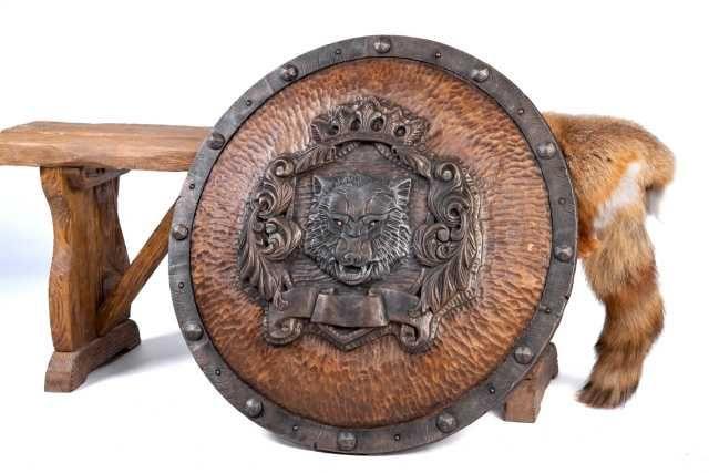 Средневековый щит ВОЛК - Ручная работа под заказ