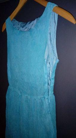 zwiewna sukienka turkusowa 152/158