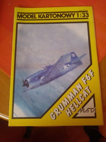 Model kartonowy. Mata design. F6F Hellcat.