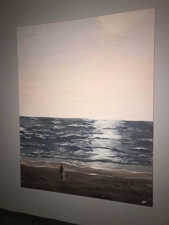 Pintura em tela feita à mão 90x60