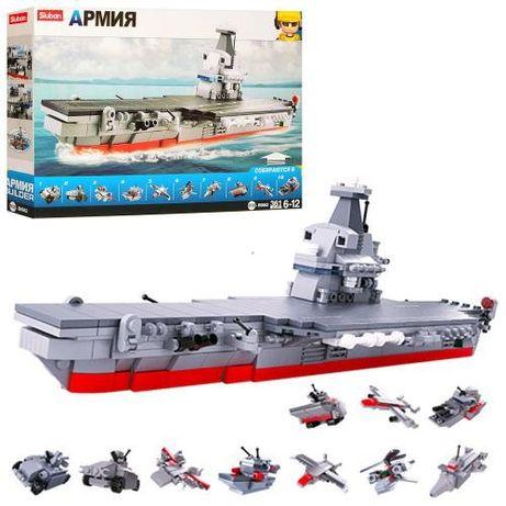 Конструктор Лего SLUBAN Военный корабль, Титаник 361 деталь армия