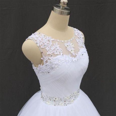 suknia ślubna princessa tiul koronka 34, 36, 38, 40, 42, 44, 46