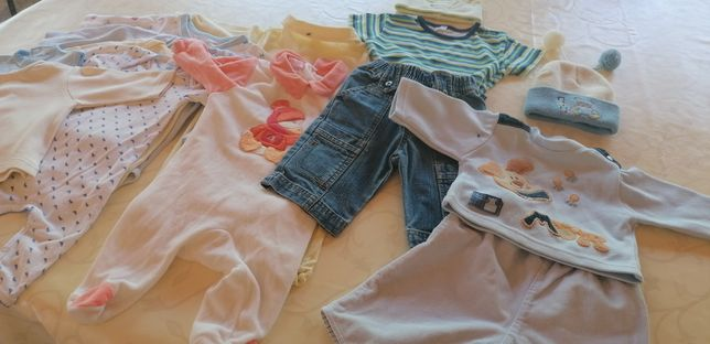 Lote roupa 0-3 meses bebé- 14 peças