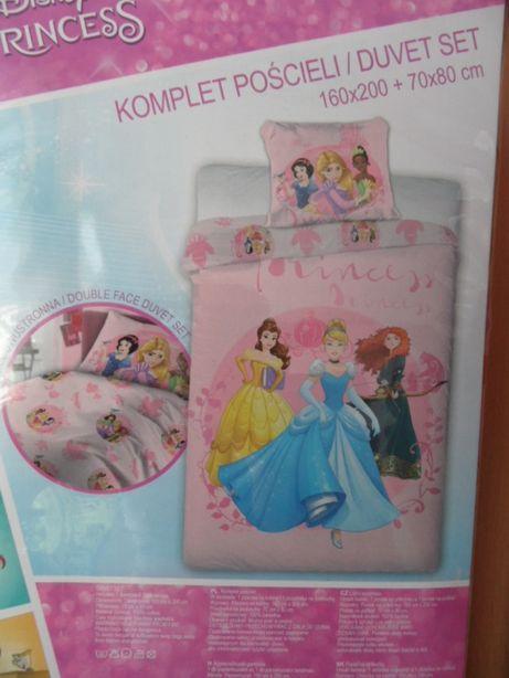 Księżniczka Disney nowa pościel dla dzieci 160x200 + 70x80
