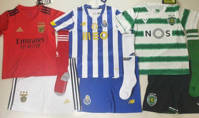 Camisola Equipamentos SCP Sporting SLB Benfica FCP Porto 2020/2021