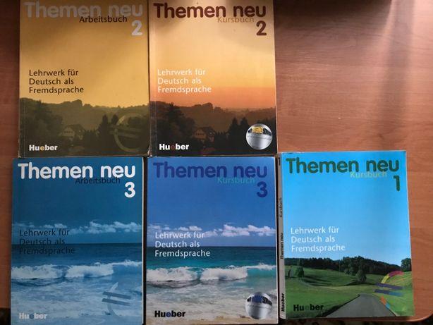 Комплект книг для изучения немецкого языка Themen neu