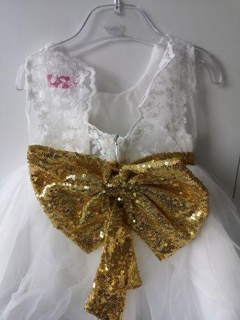 Nowa sukienka księżniczka elegancka wesele biała tiul