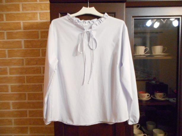 Biała bluzka z wiązaniem XL XXL nowa OKAZJA