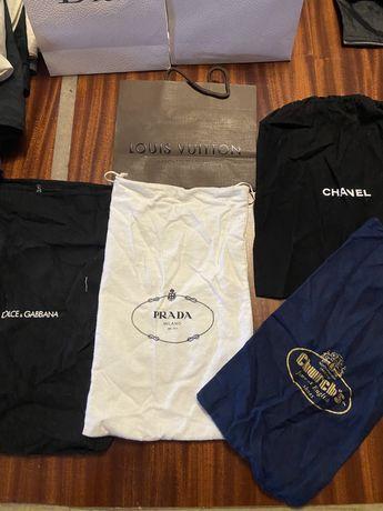 Dust bag prada, chanel e outras marcas