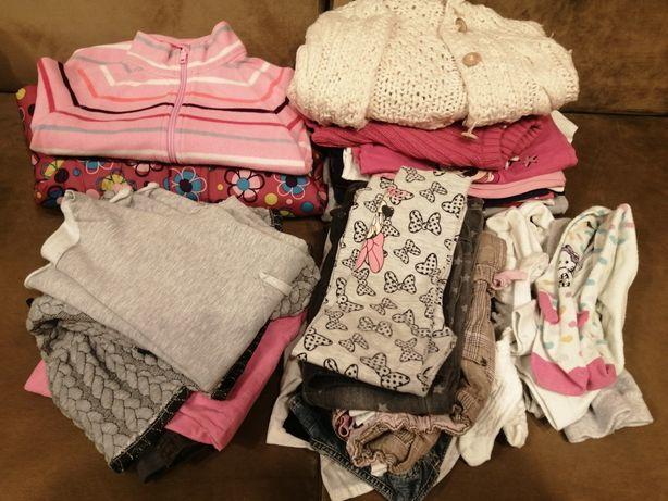 Zestaw 32 szt. paka paczka kurtka sukienki jesień zima 98