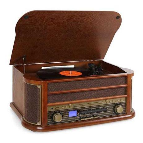 Belle Epoque 1908 Radio Wieża Retro Vinyl Gramofon