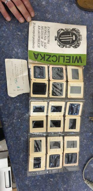 Zestaw przeźroczy Wieliczka kopalnie soli 1985rok