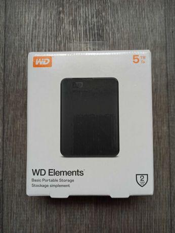 Жесткий диск WD Elements Portable 5TB внешний HDD. Новый. В наличии.