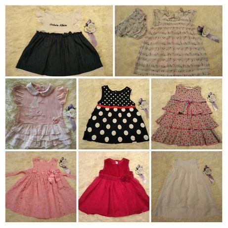 Красивые платья Next, H&M, Carter's, C.Klein 6-12-18 мес.