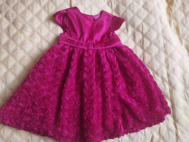 Sukienka wizytowa czerwona rozmiar 86