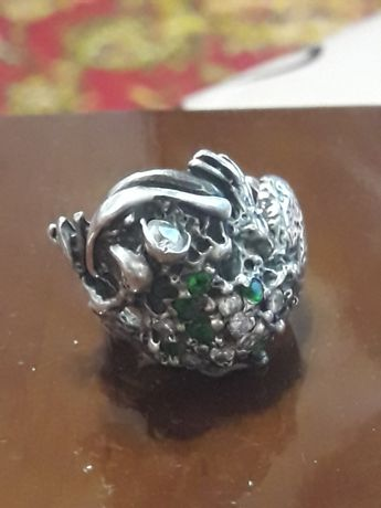 Кольцо  лягушка 925