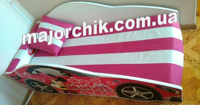Кровать машинка БМВ для девочки Принцессы машина с матрасом + Подарок