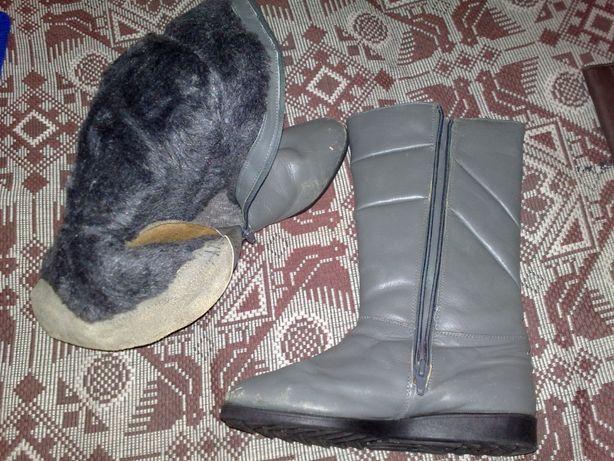 Продам чоботи шкіряні для дівчаток, б/в, в гарному стані. Розмір : 24.