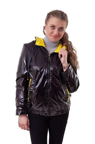 Курточка-ветровка лакированная Монклер куртка лак 44- 54рр демисезон