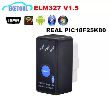 OBD2Stabilny sprzęt V1.5 czarny interfejs Bluetooth OBD2 ELM327 obsług