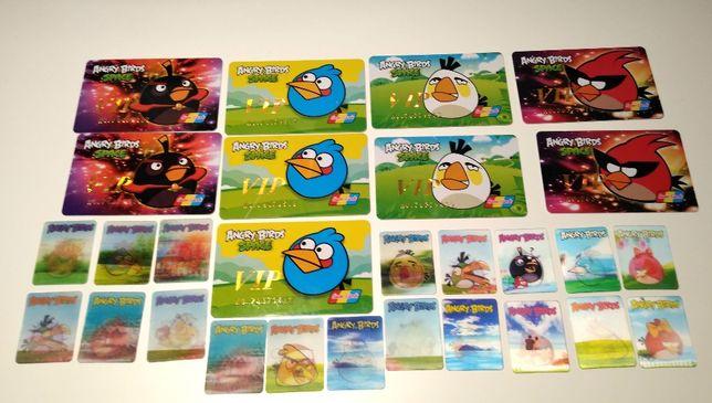 Angry Birds Space karty + karty trójwymiarowe
