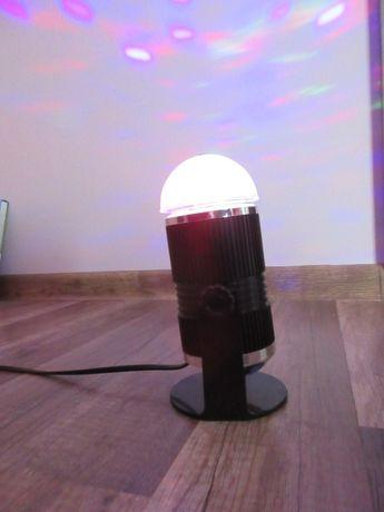 Kula disco projektor reflektor dyskoteka sylwester
