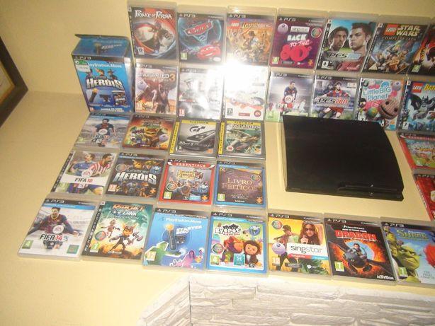 Vendo PS3 com vários jogos e acessórios