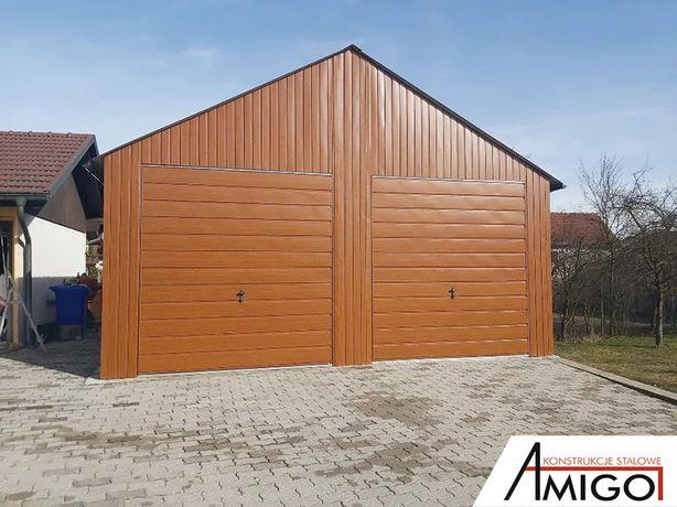Garaż blaszany 7x8 konstrukcja z profili ocynkowanych blaszak OKAZJA