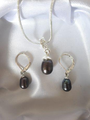 Комплект серьги и ожерелье, жемчуг