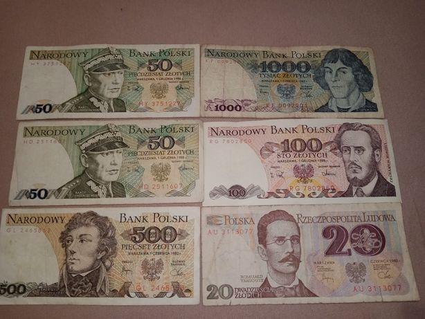 Zestaw Banknotów PRL